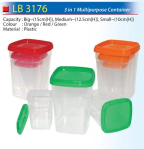 3 in 1 Multipurpose Container (LB3176)